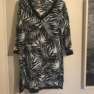 Lands' End sheer swimsuit coverup